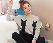 Venta-caliente-pijamas-de-algodón-pijama