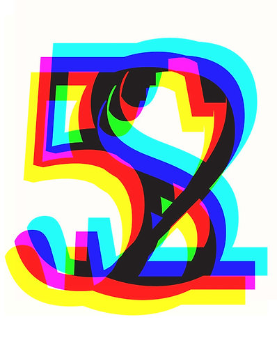 S, 2, 5 Letter forms