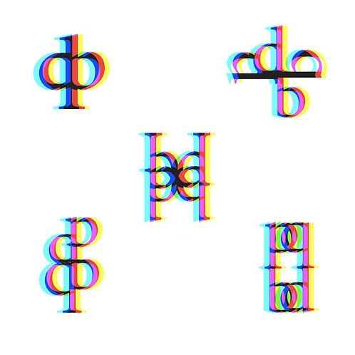 b, d, q, p Letter forms