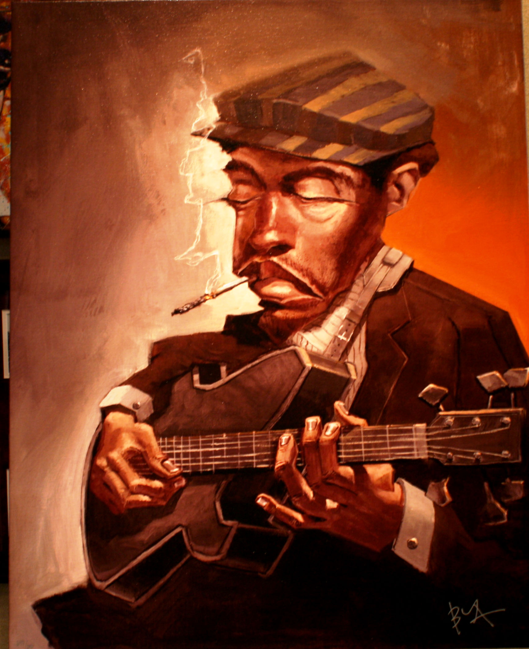 ART9: BLUES MAN by JUSTIN BUA!