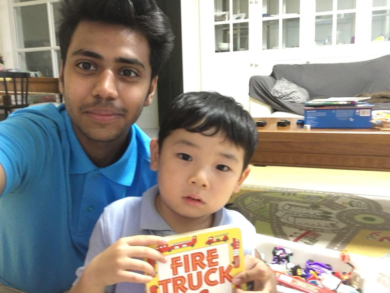 Tutor Bilal with Yutaro.