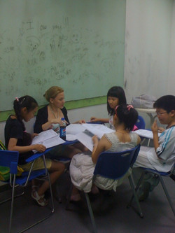 Teacher Alba and her students!