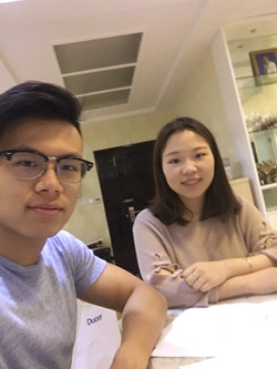 Kevin with tutor Esther