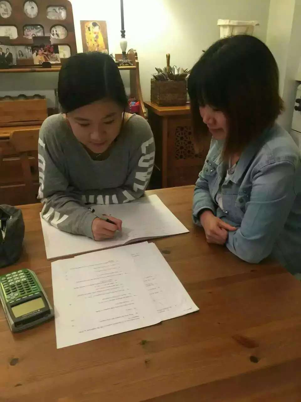 Tutor Cathy with Sammie Huang