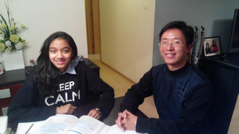 Thevni with Tutor Victor