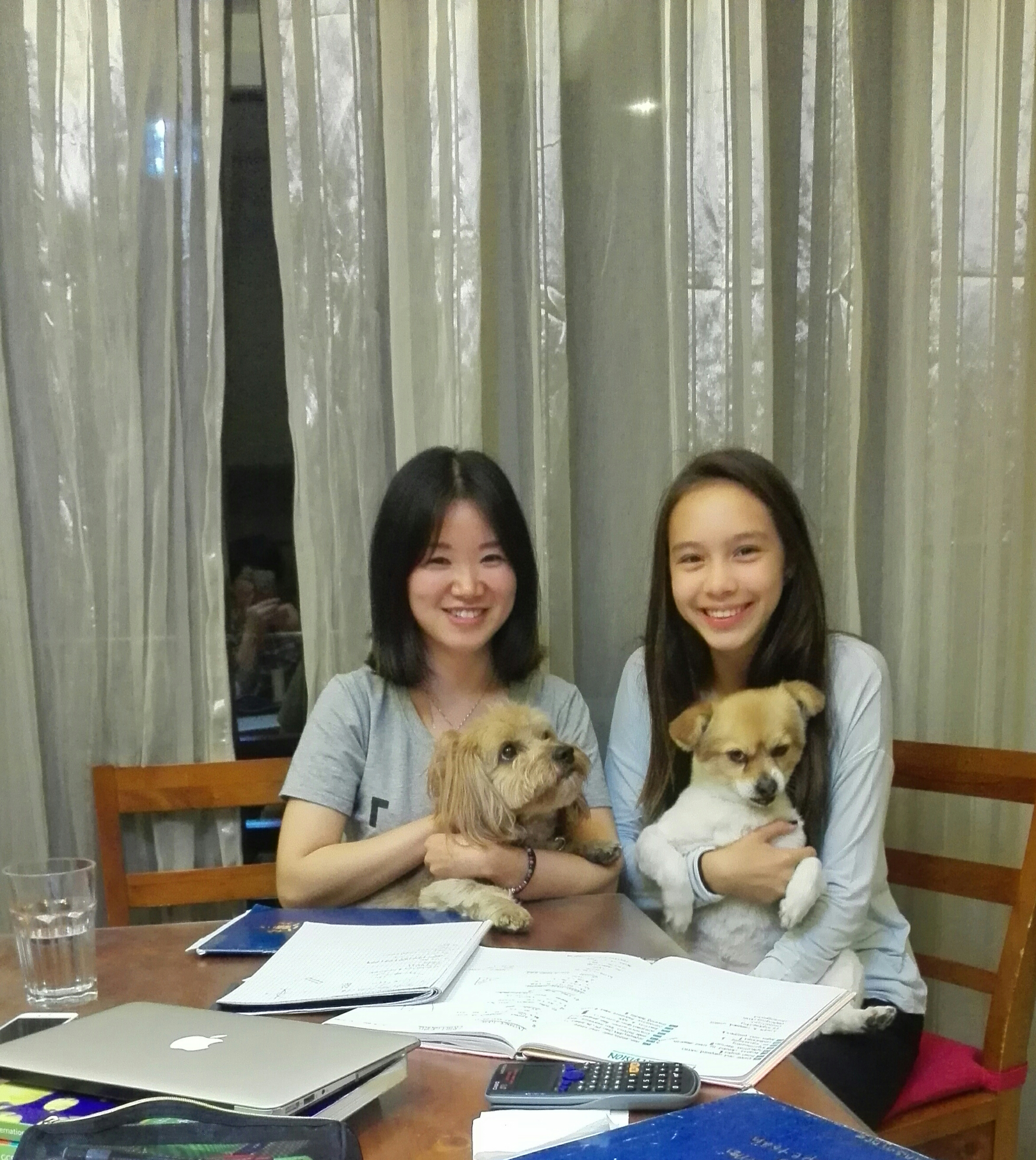 Luna from WISS with Tutor Cathy