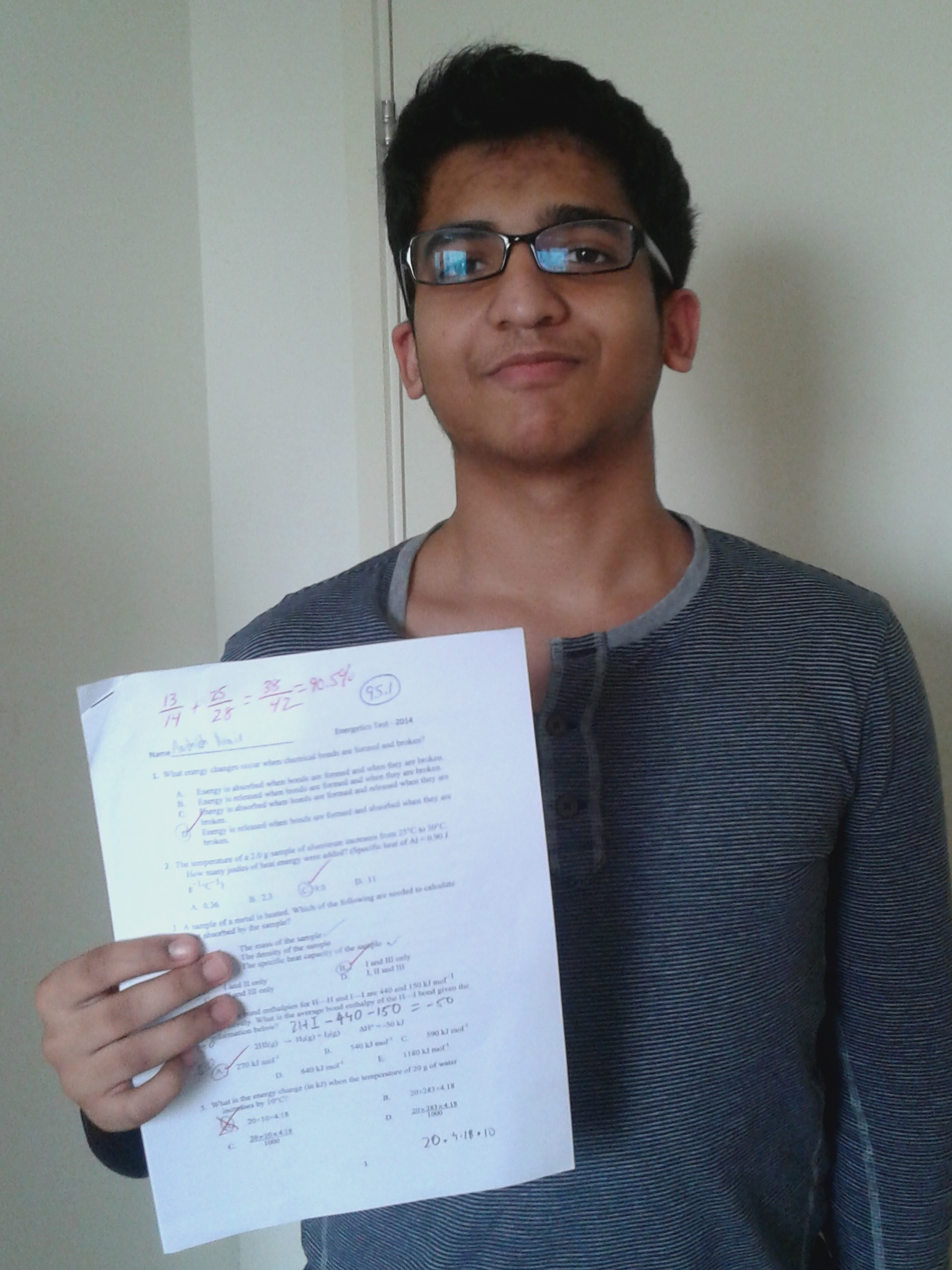 Aashish Nair getting a 90%!