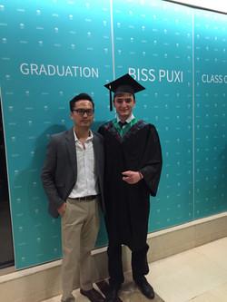 Pablo with IB physics tutor Ken
