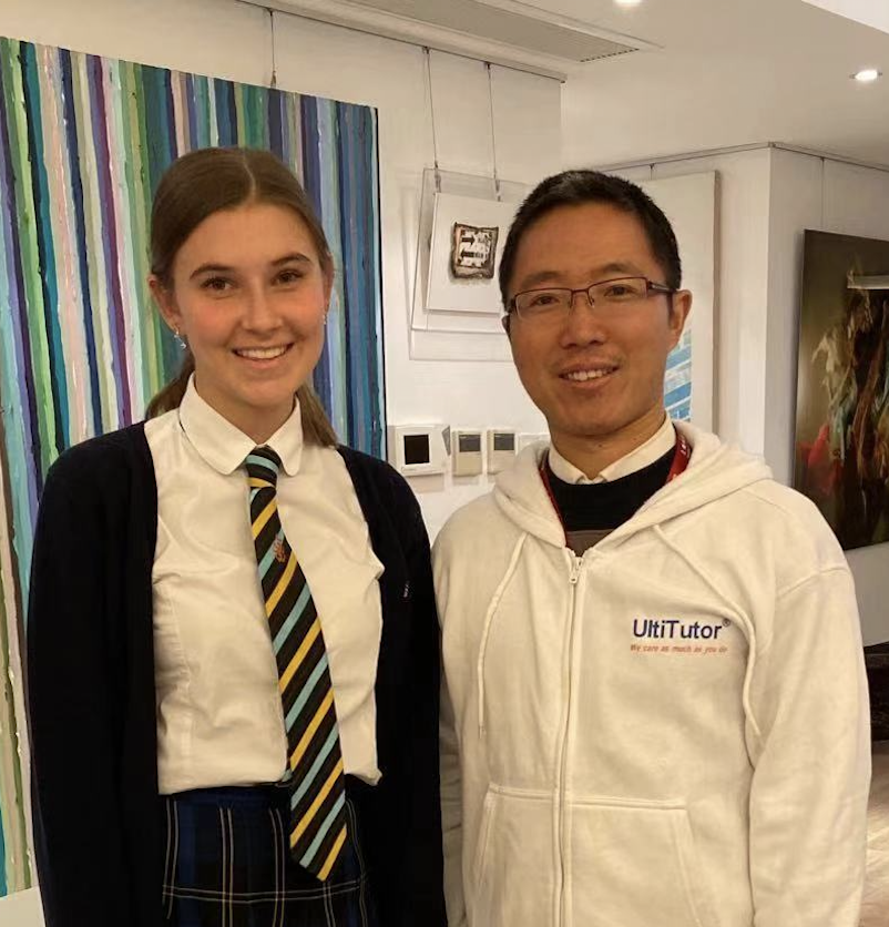 Matilda with tutor Victor - 2019