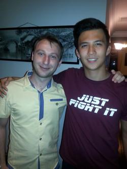 Tutor Niko with student Leon