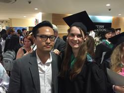 Patricia with IB Physics tutor Ken
