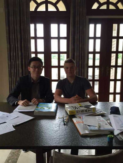 Constantine with SAT tutor Seiya