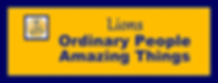 Yellow and Blue banner image stating Lios Ordinary People Amazing Things