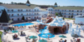 outdoor view of waterpark and play area for Clarion Hotel in Wisconsin Dells
