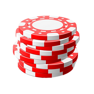 stack of red and white colored poker chips