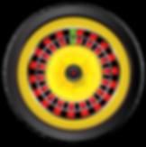 multi-colord roulette wheel for casino games