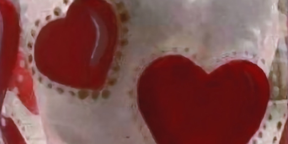 Heart Glass Painting 6pm