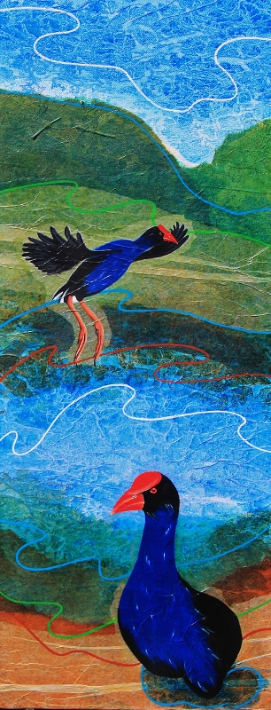 Wetland series- Purple Swamphen