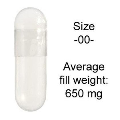 Gelatin Capsules Size -00- (500 ct)