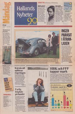 950522-Hallands Nyheter-Margareta Svensson Riggs-cover-72