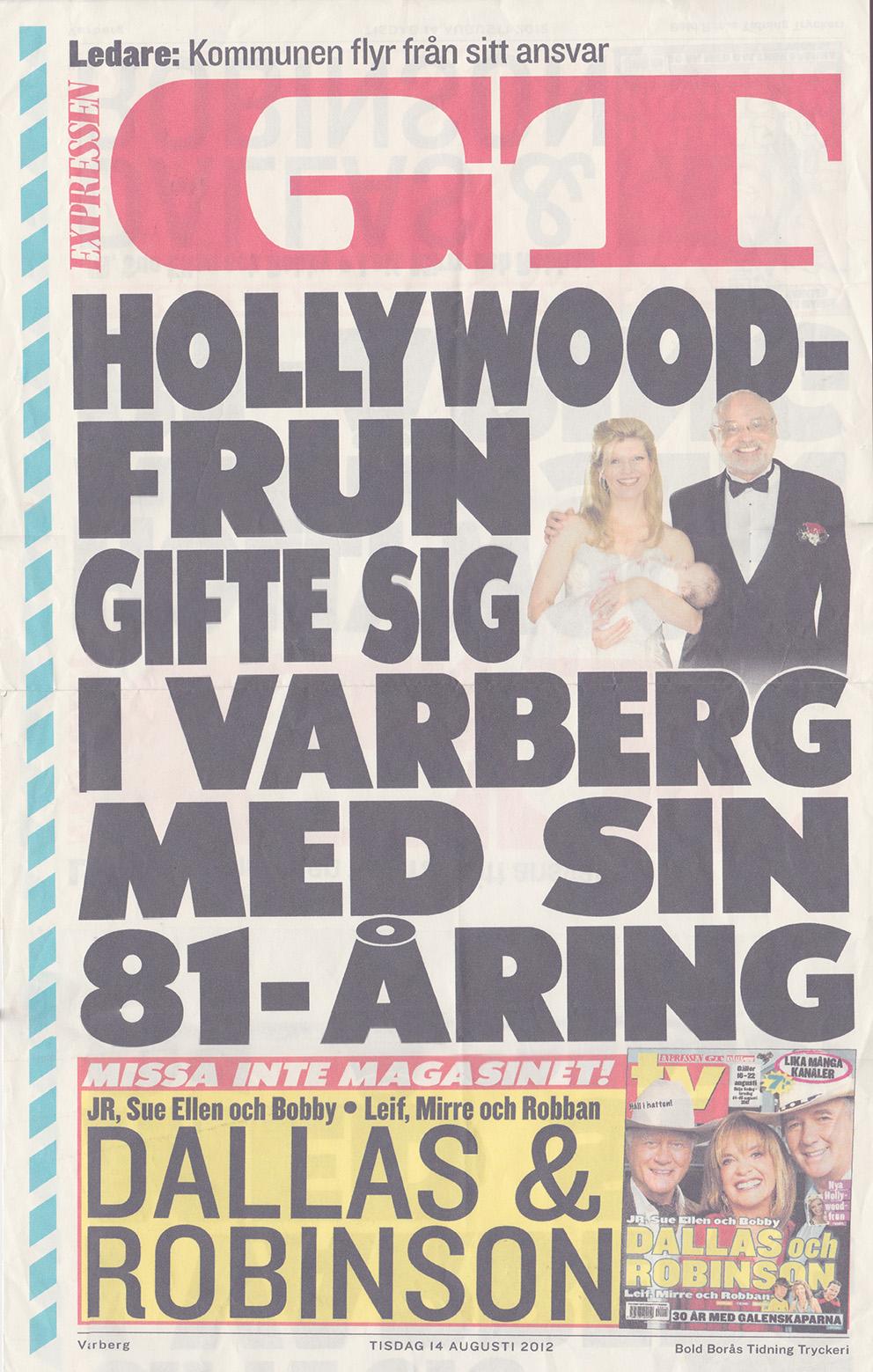 120814-GT-Margareta_Svensson_Riggs-Hollywoodfrun_gifte_sig_i_Varberg_med_sin_81-åring-Löpsedel-72
