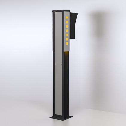 Totem LED Amarelo - Frente 30cm - Morador 2.jpg