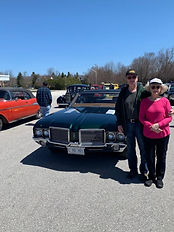 Jim and Linda Cunningham 1972 cutlass.jp