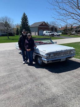 wayne and betty ann hawke 1964  ford gal