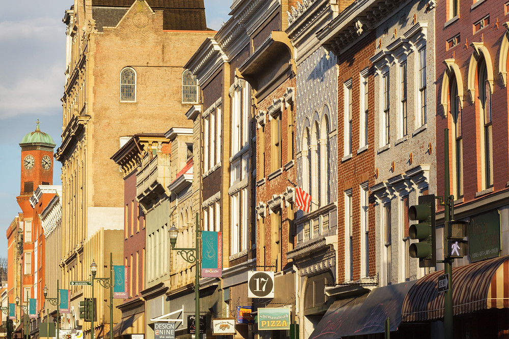 Downtown Staunton, Virginia.