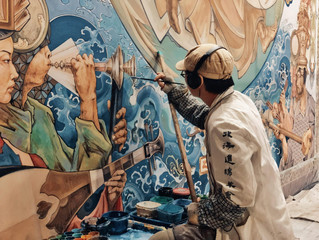 台南寺廟彩繪的新舊比拼