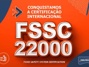 New Max Industrial Conquista a Certificação Internacional FSSC 22000