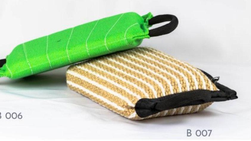 ROK9 Jute Bite Pillow Flat