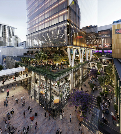 HAMES-AR-A002 ELEVATED VIEW OF RETAIL &