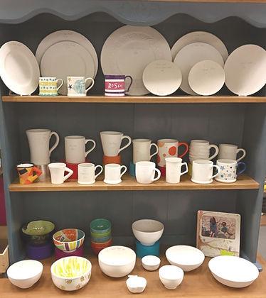 Plates, mugs, bowls