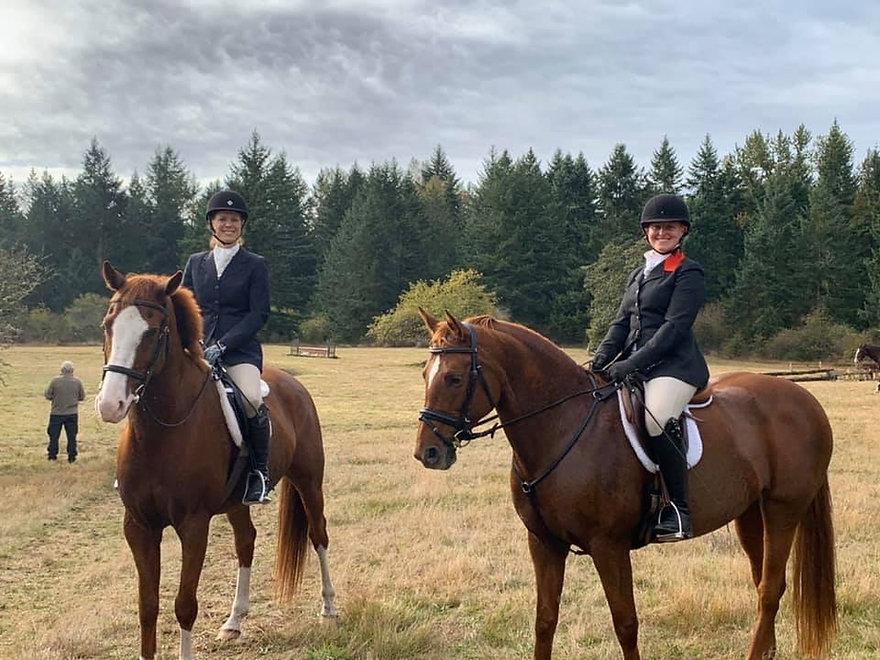 Skye and Luca at hunter trials.JPG