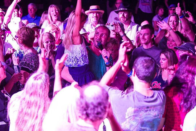 Paul Thorn performs in the crowd at the 2014 Bogalusa Blues & Heritage Festival...