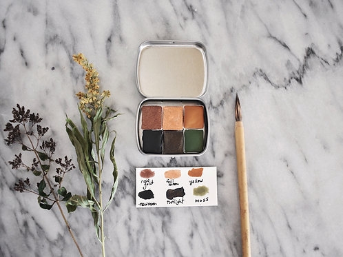 Forest Pigments, Handcrafted Botanical Paint Palette