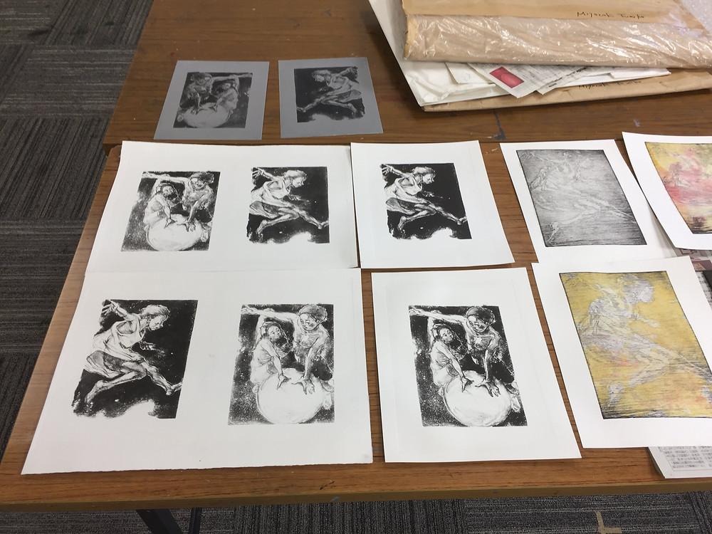 宮崎文子リトグラフ版画教室