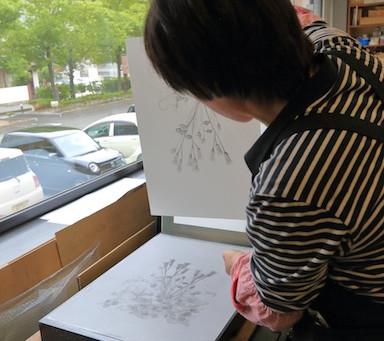 福島美術館にてリトグラフのワークショップのご報告(2日目)