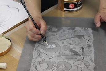 福島美術館にてリトグラフのワークショップのご報告(1日目)