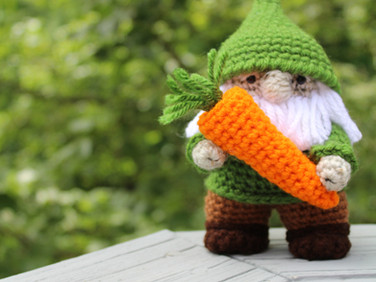 The Gardening Gnome by Laura Jaworski (@bugburrypond) 🥕
