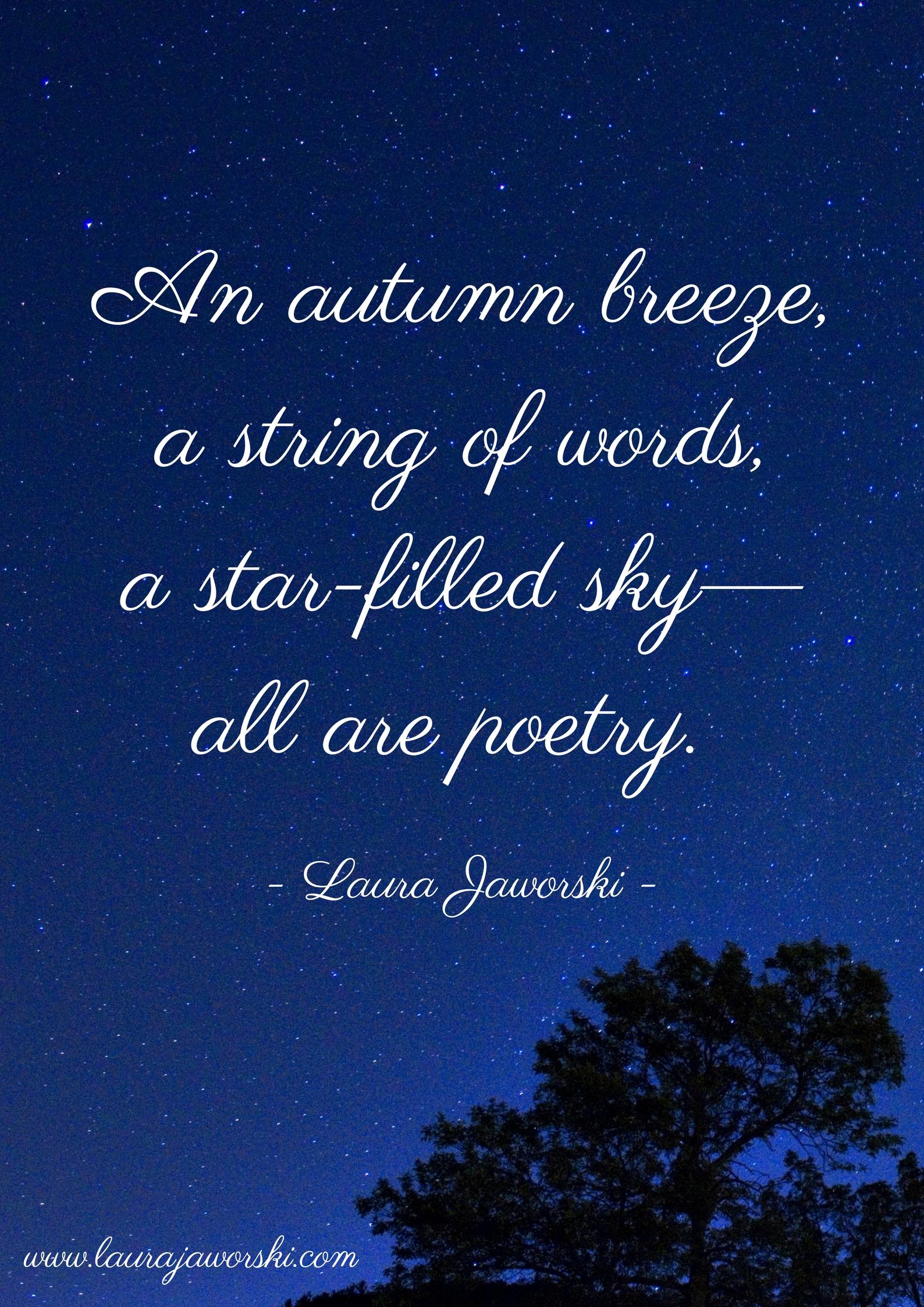 Poetry | www.laurajaworski.com