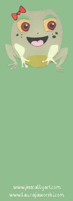 Froggy Bookmark Blank