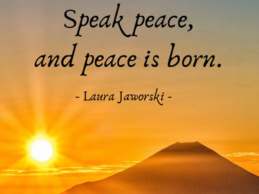 Speak Peace ♥