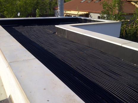 instalare pe terasa, piscina incalzita solar