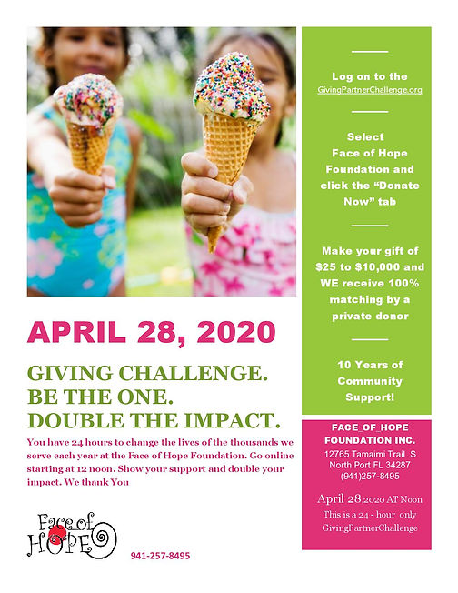 2020 GIVING CHALLENGE FUNDRAISING  APRIL