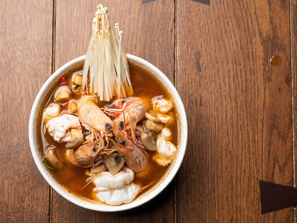 Tom Yum Koong - Spicy Soup Flavoured wit