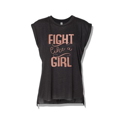 Fight Like A Girl Women's Muscle Tank