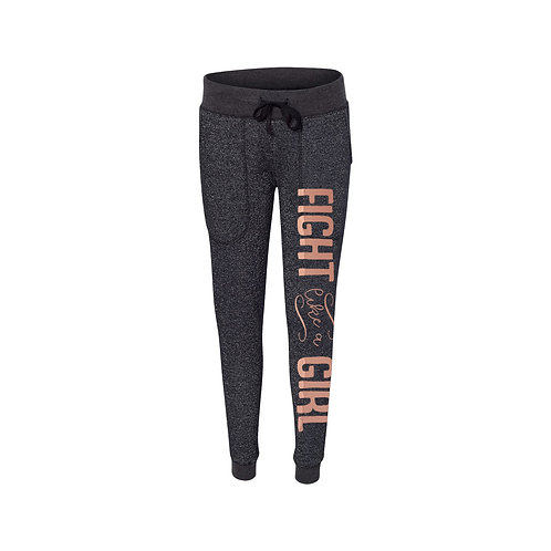 Fight Like A Girl Glitter Jogger