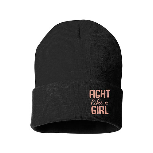 Fight Like a Girl Knit Beanie